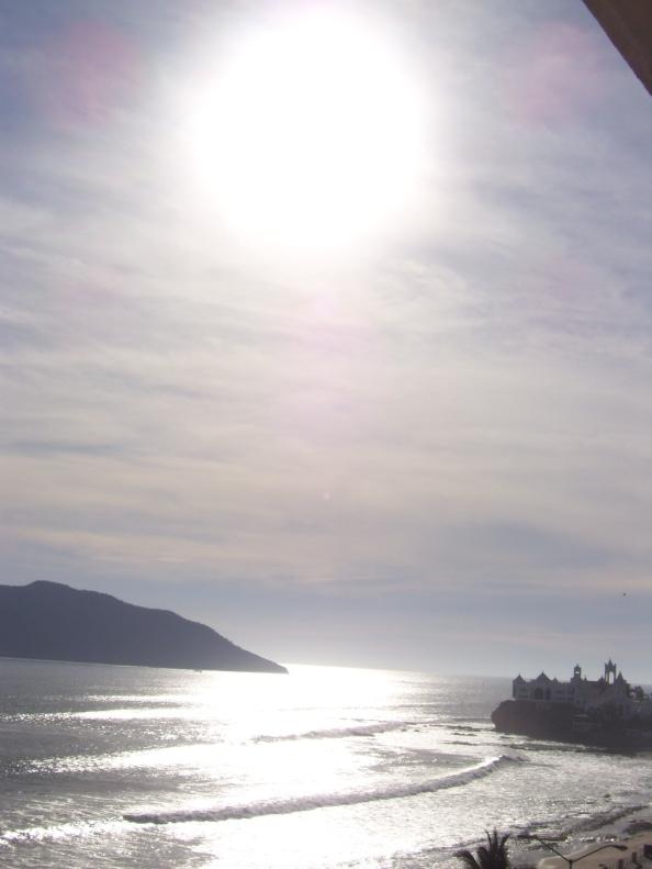 The hot Mazatlan sun