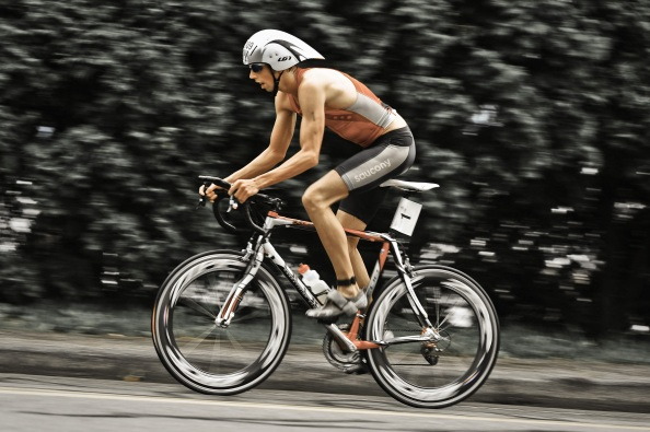 Me leading the Marlboro Tri.
